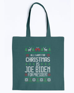 All I Want For Christmas Is Joe Biden for President Canvas Tote