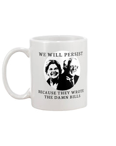 Warren/Sanders Mashup Extra Large Black Mug