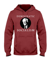 "Load image into Gallery viewer, ""Democratic Socialism"" Classic Fit Pullover Hooded Sweatshirt"