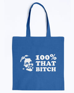 Elizabeth Warren Is 100% That B*tch Canvas Tote-Accessories-plussizefor