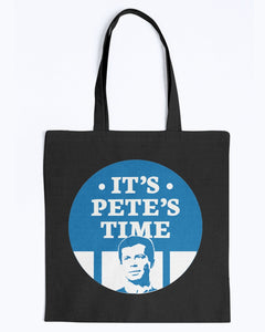 It's Pete's Time Canvas Tote-Accessories-plussizefor