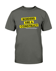 Borders Are A Construct Classic Fit Tagless T-Shirt