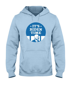 It's Biden Time Classic Fit Pullover Hooded Sweatshirt-Sweatshirts-plussizefor