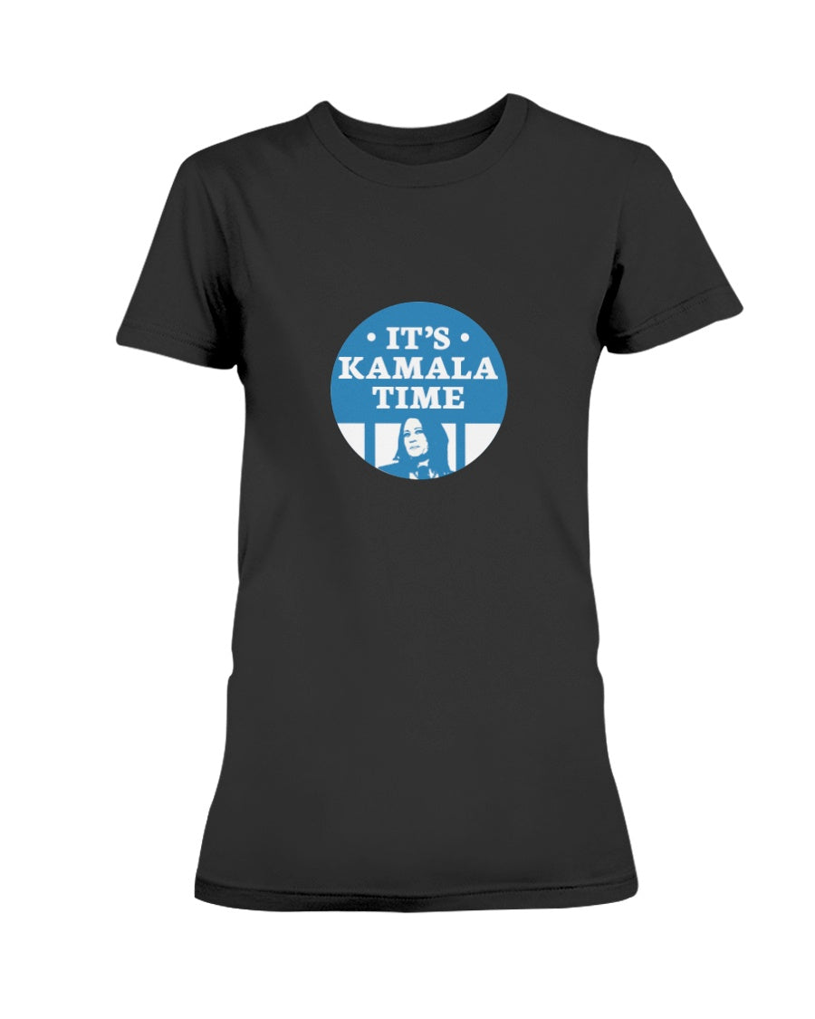It's Kamala Time Fitted Short Sleeve T-Shirt-Shirts-plussizefor