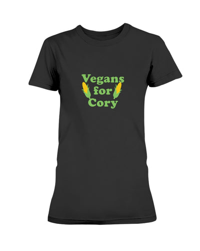 Vegans For Cory Fitted Short Sleeve T-Shirt-Shirts-plussizefor