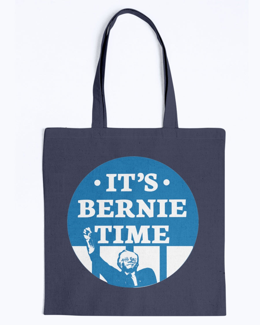 It's Bernie Time Canvas Tote-Accessories-plussizefor