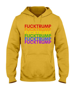 F*ck Trump PRIDE Classic Fit Pullover Hooded Sweatshirt