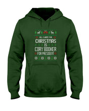Load image into Gallery viewer, All I Want For Christmas Is Cory Booker Classic Fit Pullover Hooded Sweatshirt