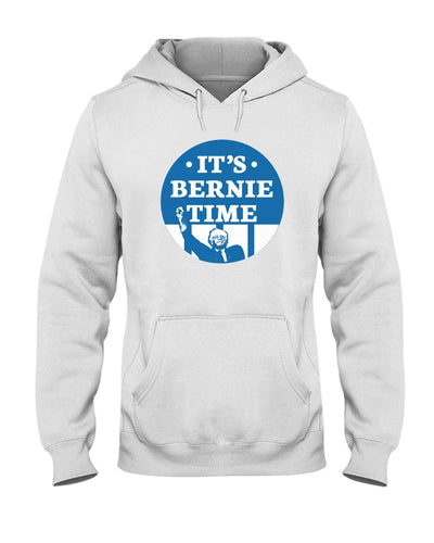 It's Bernie Time Classic Fit Pullover Hooded Sweatshirt-Sweatshirts-plussizefor