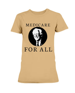 Medicare For All Fitted Short Sleeve T-Shirt