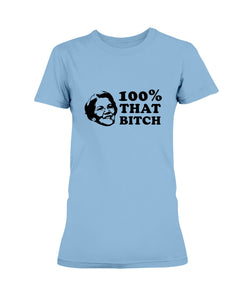 Elizabeth Warren Is 100% That B*tch Fitted Short Sleeve T-Shirt-Shirts-plussizefor