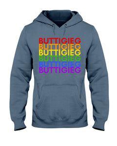 Buttigieg PRIDE Classic Fit Pullover Hooded Sweatshirt