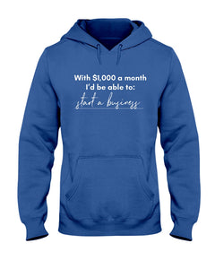 Start A Business with Universal Basic Income Classic Fit Pullover Hooded Sweatshirt