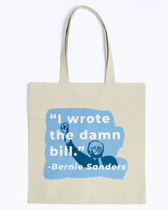 """I Wrote The Damn Bill"" Canvas Tote-Accessories-plussizefor"
