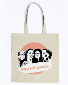 Squad Goals Canvas Tote-Accessories-plussizefor