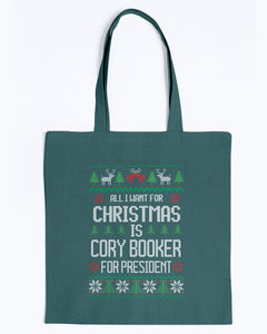 All I Want For Christmas Is Cory Booker Canvas Tote