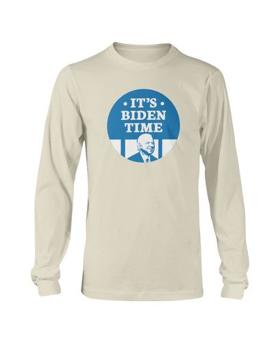It's Biden Time Classic Fit Long Sleeve T-Shirt-Shirts-plussizefor