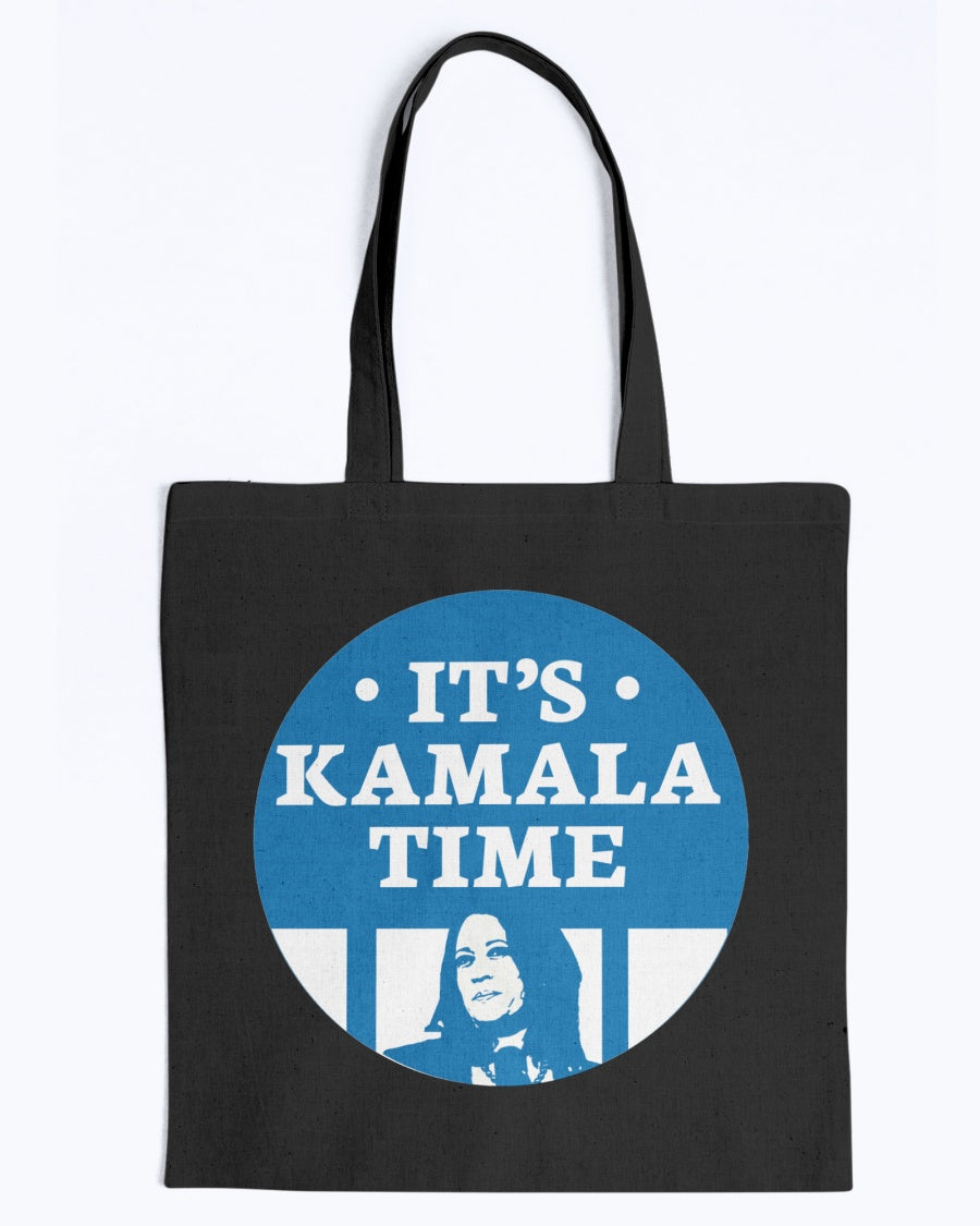 It's Kamala Time Canvas Tote-Accessories-plussizefor