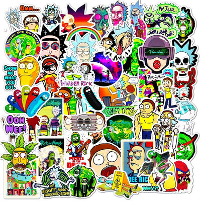Rick And Morty Stickers - BestOrdersOnline