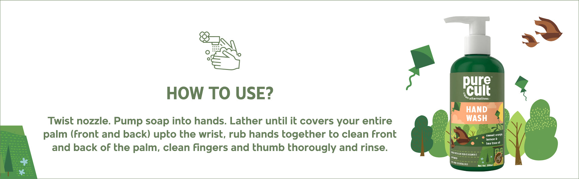 How to use Pure Cult Hand wash