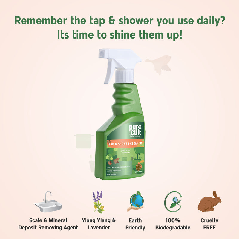 Tap And Shower Cleaner With Ylang Ylang & Lavender Essential Oil – 500ml