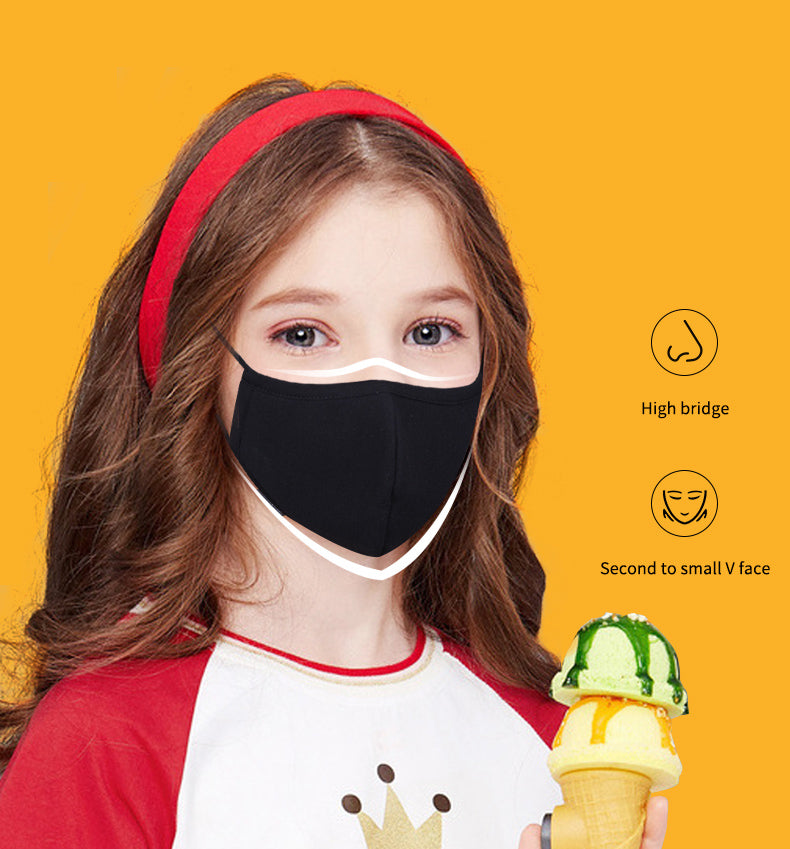 Kids Washable 3 Layer Cotton Mask (Pack of 10)