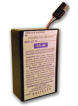 Emergency Beacon GS-46 Lithium Battery