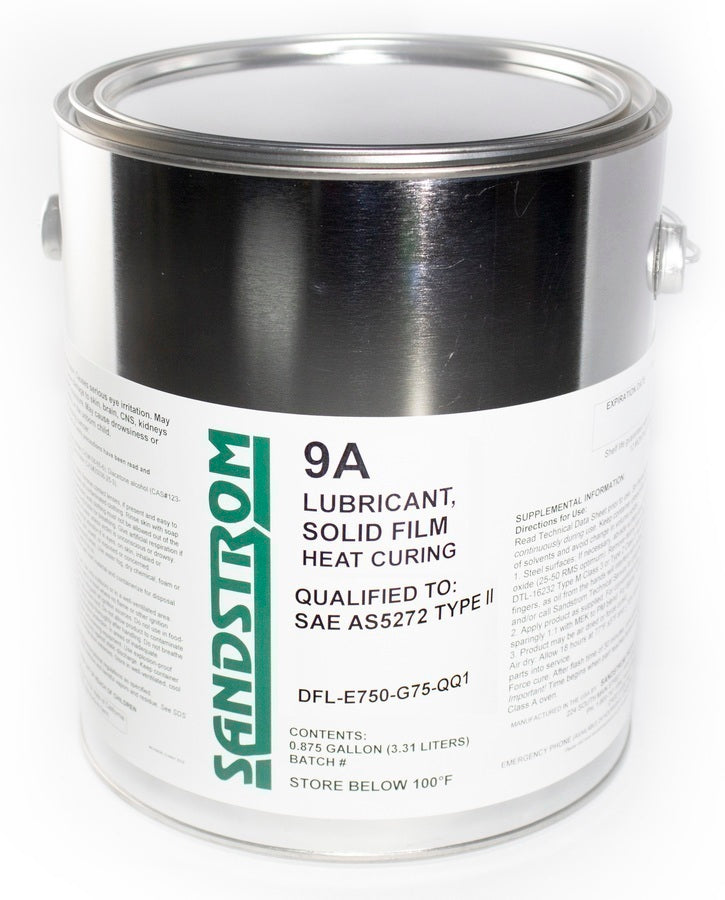 9A Solid Film Lubricant Heat Cure Series E750 Molybdenum Gallon
