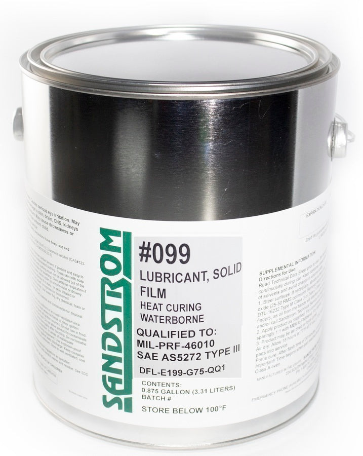 #099 Solid Film Lubricant: Air Dry /Heat Cure 1 Gallon