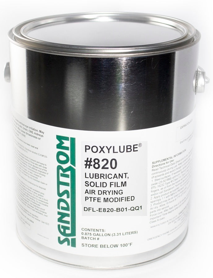 Poxylube 820 Dry Film Lubricant: Air Dry 1 Gallon