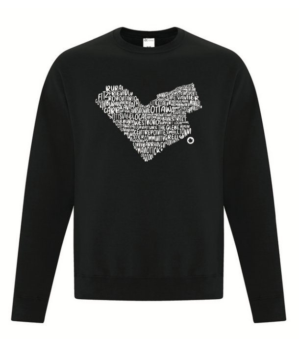 Neighbourhood Love Crewneck in Black
