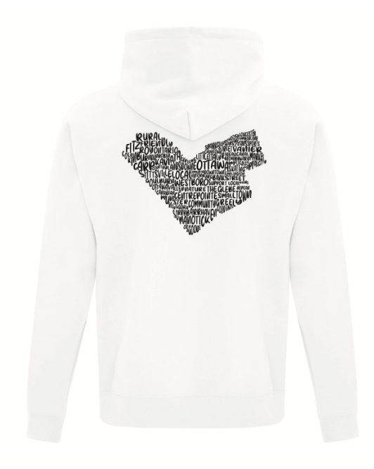 Neighbourhood Love Hoodie in White