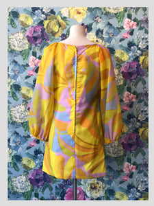 Sunshine Abstract Shift Dress
