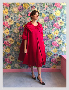 Penn Fifth Avenue Raspberry Opera Coat