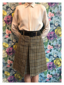 Prada Tweed Tartan Skirt