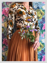 Load image into Gallery viewer, Mardi Gras Wool and Ginger Chiffon Dress