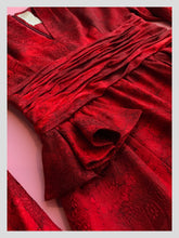 Load image into Gallery viewer, Nina Ricci Ruby Chinese Silk Cocktail Dress