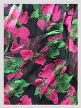 Load image into Gallery viewer, Midnight Florals Chiffon Cocktail Dress