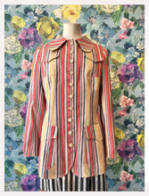 Load image into Gallery viewer, Gica Coral Pinstriped Linen Jacket