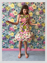 Load image into Gallery viewer, Psychedelic Ruffle Ra Ra Dress