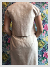 Load image into Gallery viewer, Vintage Slub Silk Two-Piece Ivory Suit