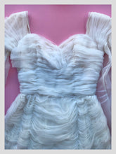 Load image into Gallery viewer, White Tiered Ruffle Cocktail Dress