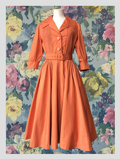 Burnt Orange Rembrandt Dress from Dress, in Bridport