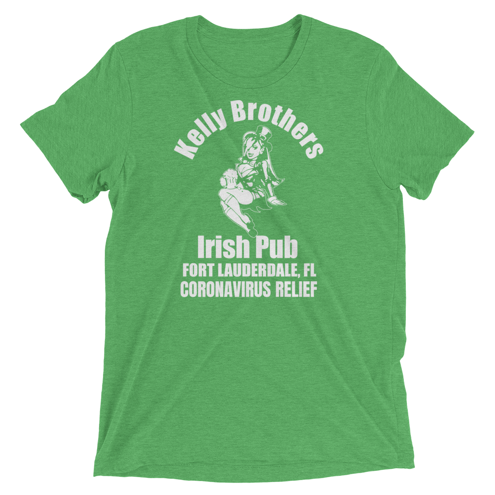 Kelly Brothers Irish Pub Coronavirus Relief Unisex Triblend T-shirt