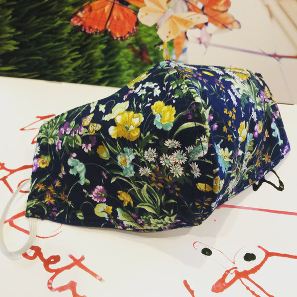 EXCLUSIVE Fabric Face Mask - Spring Floral Navy