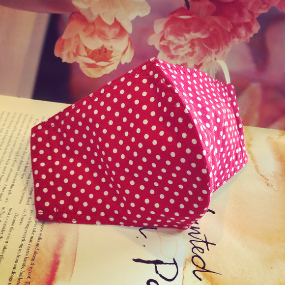 EXCLUSIVE Fabric Face Mask - Gone Dotty Red
