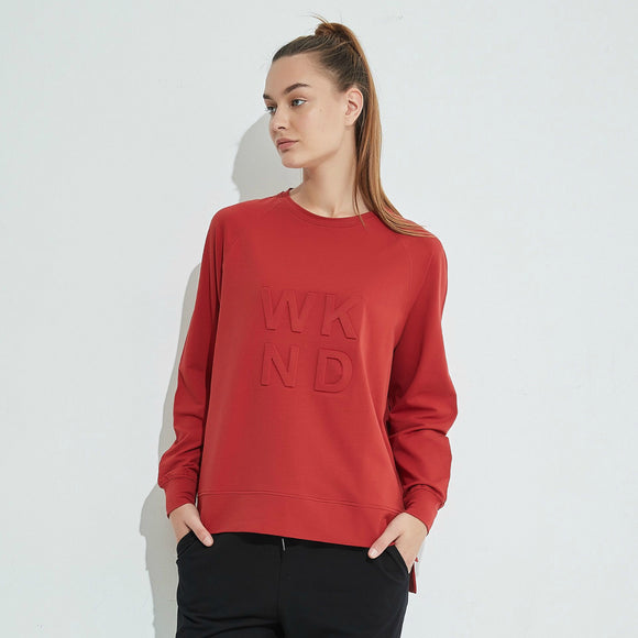Embossed WKND Sweat - Brick