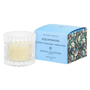 Crystal Candle Aquamarine - Coconut, Vanilla Bean & Sandalwood