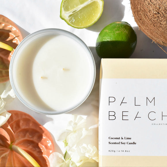 Palm Beach Coconut and Lime Candle