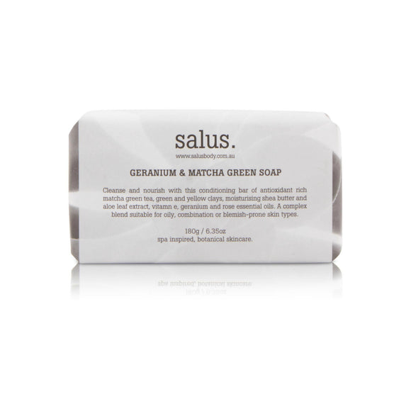 Salus Body Geranium & Matcha Green Tea Soap